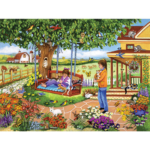 Kittens On The Swing 1000 Piece Jigsaw Puzzle