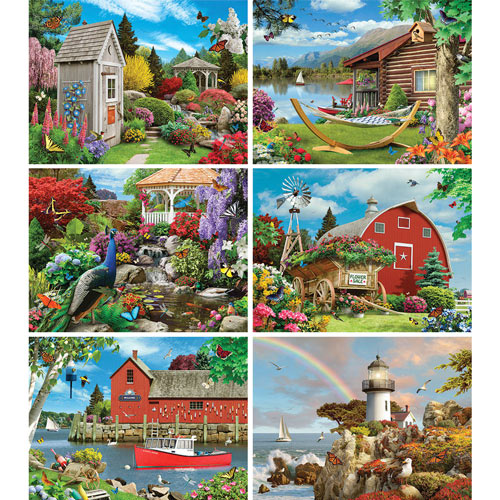 Set of 6: Alan Giana 1000 Piece Jigsaw Puzzles