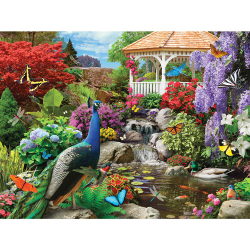 Peacock Paradise 300 Large Piece Jigsaw Puzzle