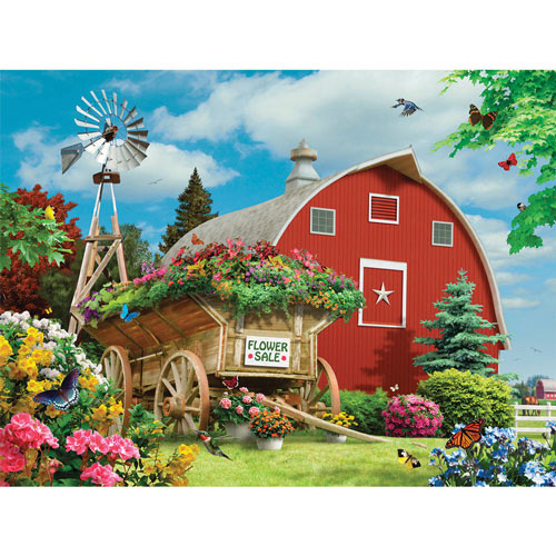 Flower Sale 300 Large Piece Jigsaw Puzzle