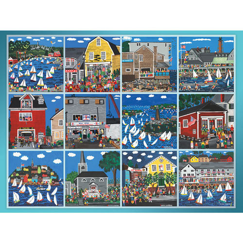Seaside Village Quilt 300 Large Piece Jigsaw Puzzle