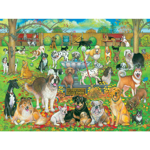 Dog Park Pals 300 Large Piece Jigsaw Puzzle