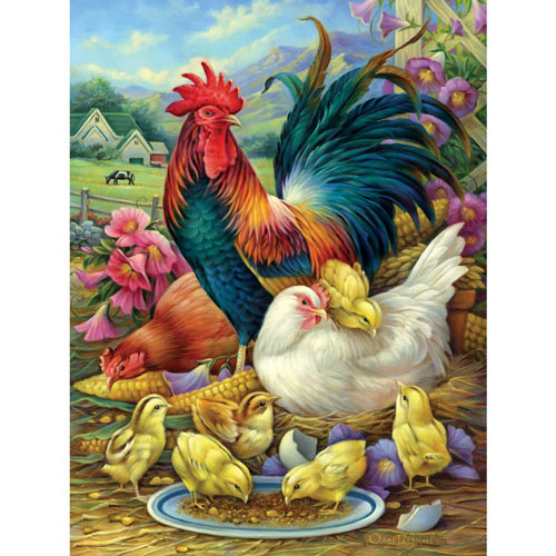 Chicken Yard 1000 Piece Jigsaw Puzzle