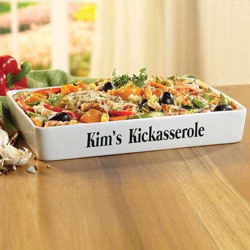 Personalized Kickasserole Casserole Dish