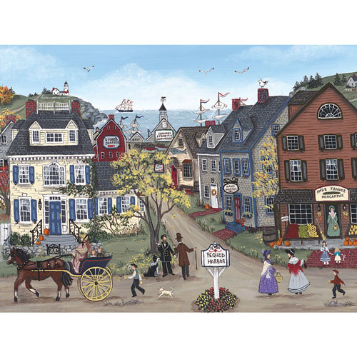 Pequod Harbor 300 Large Piece Jigsaw Puzzle