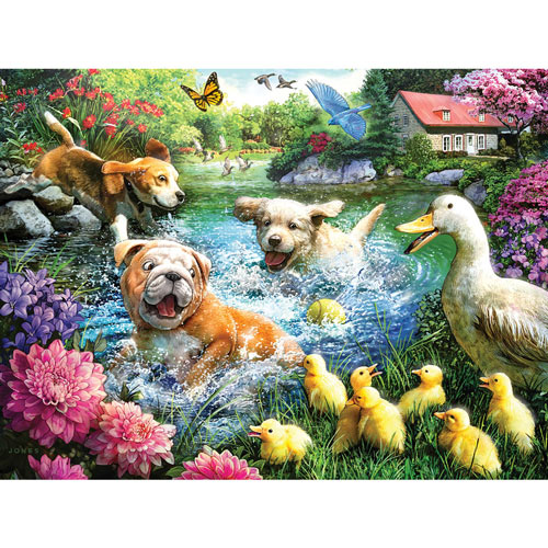 Waiting At The Swimming Hole 300 Large Piece Jigsaw Puzzle