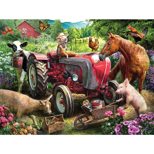 Tractor Repairs 300 Large Piece Jigsaw Puzzle