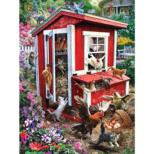 Henhouse Mayhem 300 Large Piece Jigsaw Puzzle