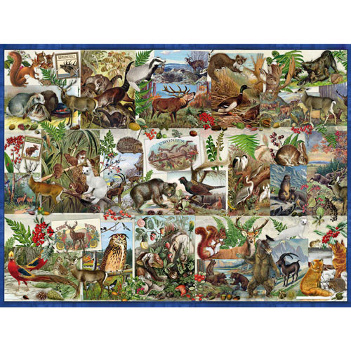 Wildlife Collage 500 Piece Jigsaw Puzzle