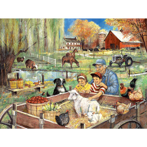 Helping Grandpa On The Farm 300 Large Piece Jigsaw Puzzle