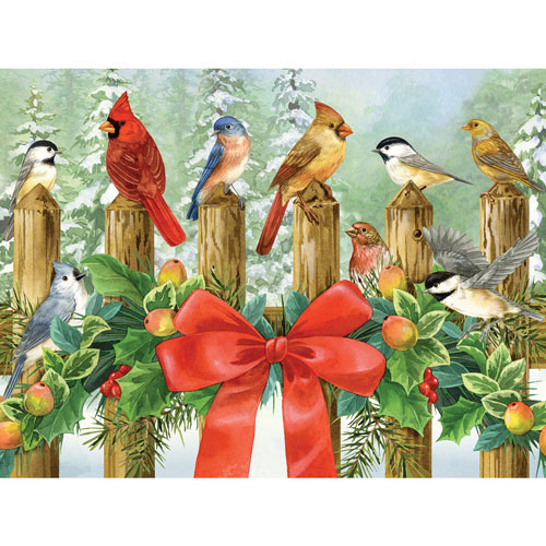 Winter Fence 300 Large Piece Jigsaw Puzzle