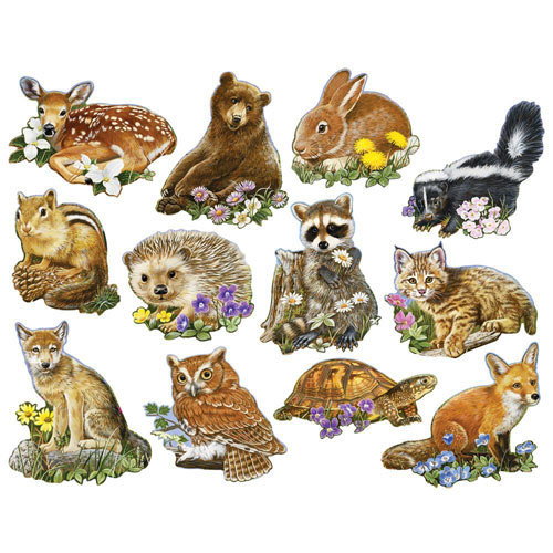 Mini Forest Youngsters 250 Large Piece Shaped Jigsaw Puzzle