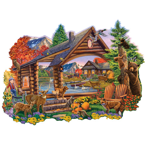 Autumn Retreat 300 Large Piece Shaped Jigsaw Puzzle