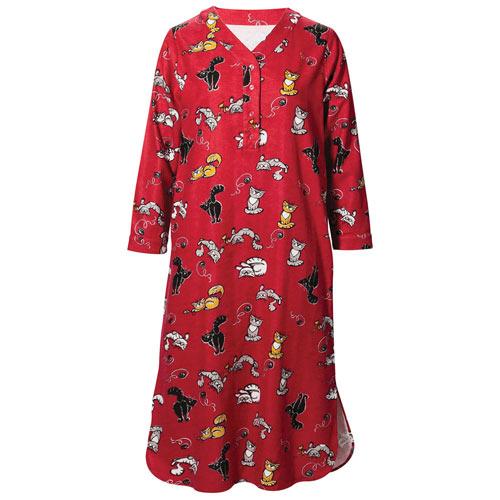 Purr-fect Flannel Nightshirt