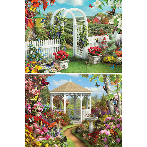 Set of 2: Alan Giana 300 Large Piece jigsaw Puzzles