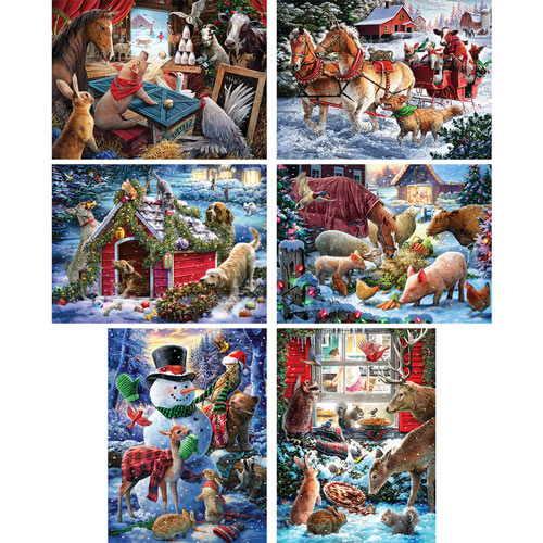 Set of 6: Larry Jones 1000 Piece Jigsaw Puzzles