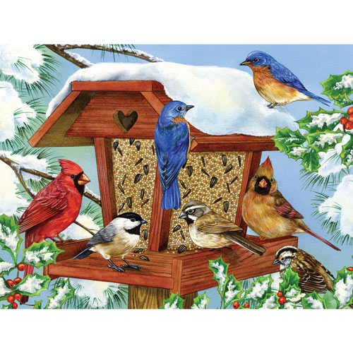 Winter Birdfeeder 1000 Piece Jigsaw Puzzle