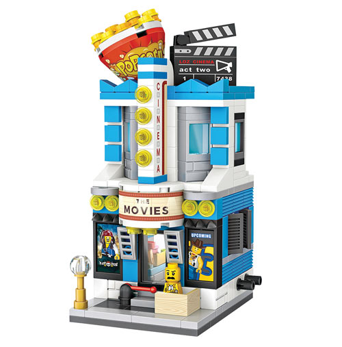 Your Town 3-D Block Puzzle - Movie Theatre