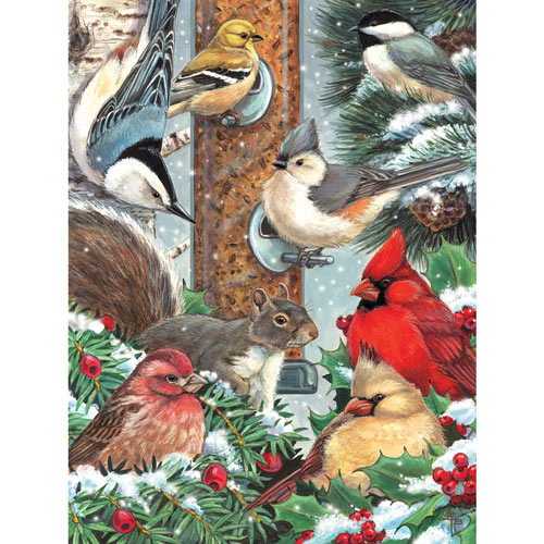Winter Bird Friends 300 Large Piece Jigsaw Puzzle