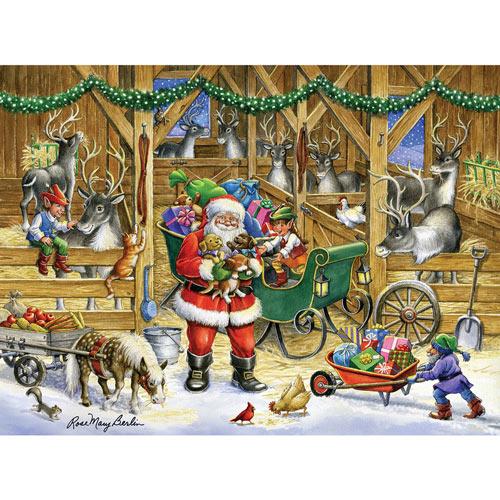 Reindeer Barn 500 Piece Jigsaw Puzzle