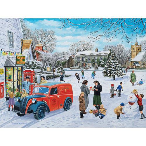 A Snowy Village 1000 Piece Jigsaw Puzzle