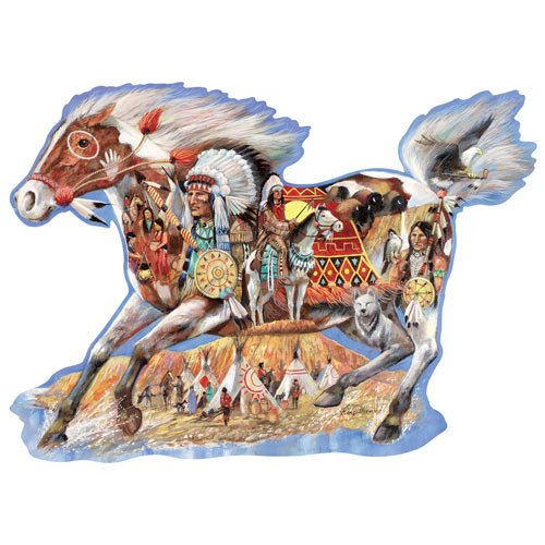 Painted Beauty 750 Piece Shaped Jigsaw Puzzle