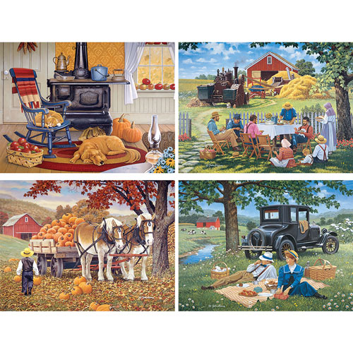 Simpler Times 1000 Piece 4-in-1 John Sloane Multi-pack Set