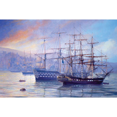 Frigate and First Rate 1000 Piece Giant Jigsaw Puzzle