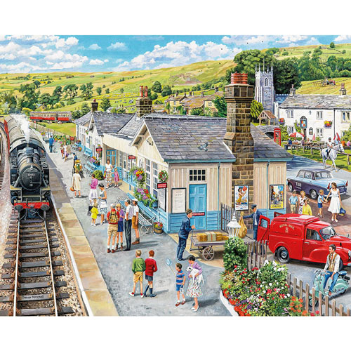 Village Station 1000 Piece Jigsaw Puzzle