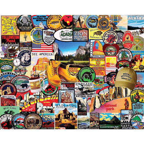 National Park Badges 1000 Piece Jigsaw Puzzle