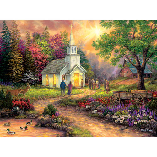 Country Church 1000 Piece Jigsaw Puzzle