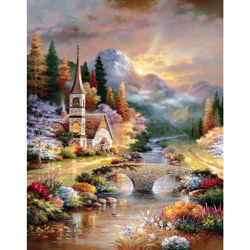 A Country Evening Service 1000 Piece Jigsaw Puzzle