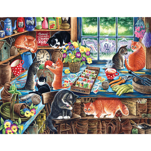 In The Garden Shed 1000 Piece Jigsaw Puzzle