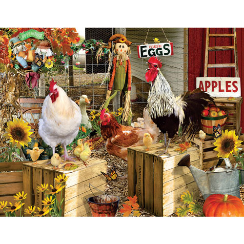 Chickens On The Farm 1000 Piece Jigsaw Puzzle