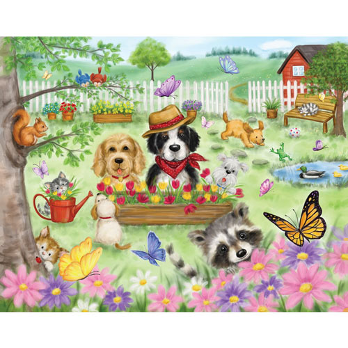 Garden Animals 300 Large Piece Jigsaw Puzzle