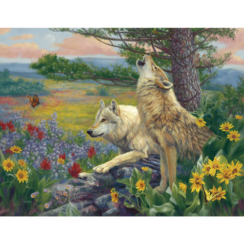 Wolves In Spring 300 Large Piece Jigsaw Puzzle