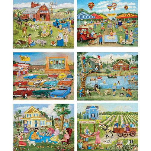Set of 6: Kay Lamb Shannon 500 Piece Jigsaw Puzzles