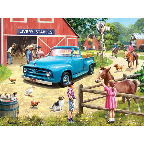 A Stop At The Stables 300 Large Piece Jigsaw Puzzle