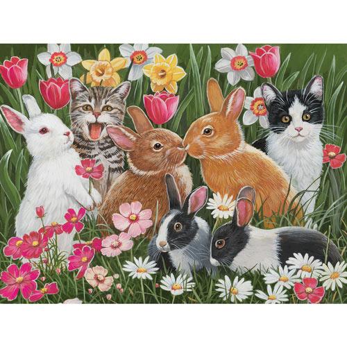 Springtime Bunnies 300 Large Piece Jigsaw Puzzle