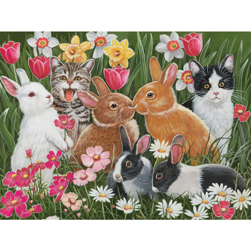 Springtime Bunnies 500 Piece Jigsaw Puzzle