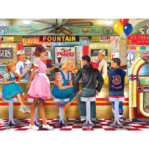 Soda & Ice Cream Parlour 1000 Piece Jigsaw Puzzle