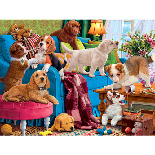 Playful Puppies 500 Piece Jigsaw Puzzle