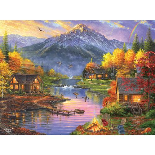 Mountain Retreat 300 Large Piece Jigsaw Puzzle