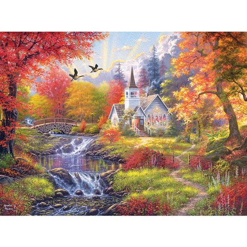 Woodland Church 300 Large Piece Jigsaw Puzzle