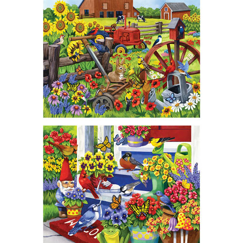 Set of 2: Nancy Wernersbach 500 Piece Jigsaw Puzzle