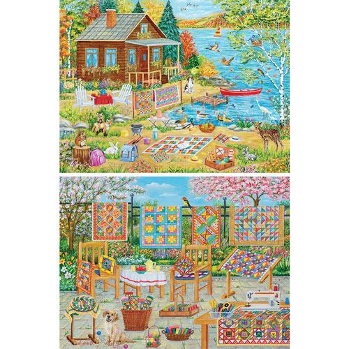 Set of 2: Vessela G 1000 Piece Jigsaw Puzzles
