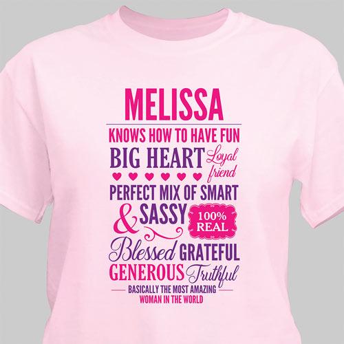 Personalized Most Amazing Woman T-Shirt