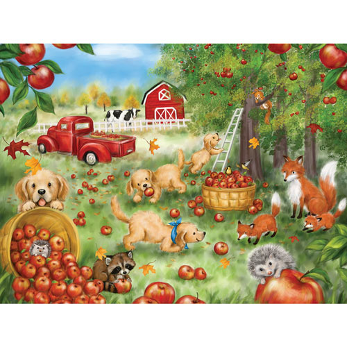 Apple Harvest Fun 500 Piece Jigsaw Puzzle