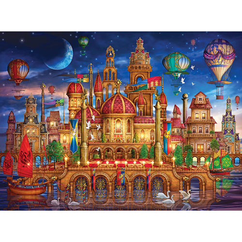 Downtown 1000 Piece Holographic Jigsaw Puzzle