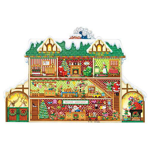 Santa's Workshop 300 Large Piece Shaped Jigsaw Puzzle